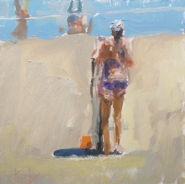 """Sunning"" original fine art by Randall Cogburn"