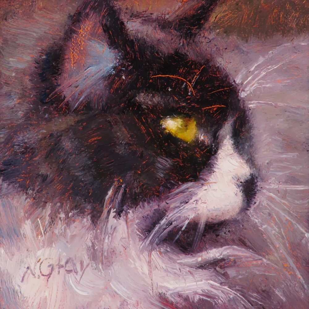 """Whiskers"" original fine art by Naomi Gray"