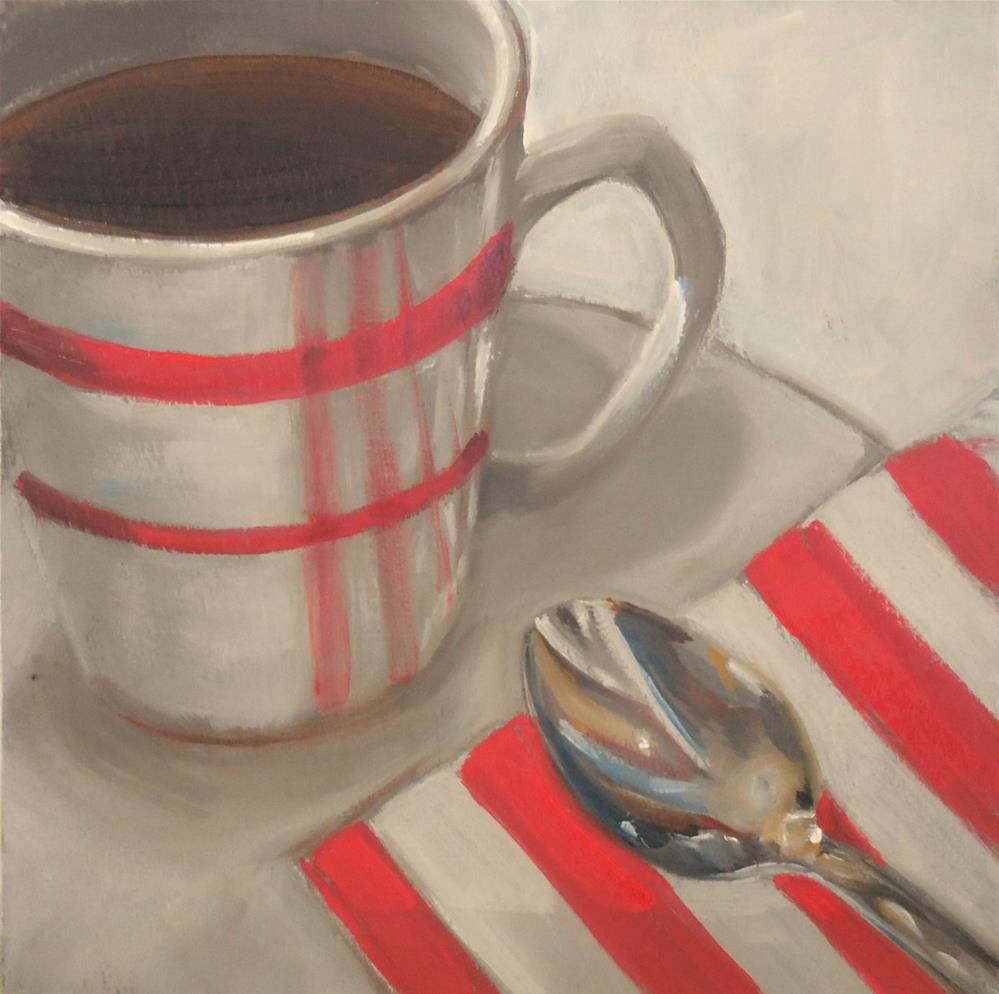 """Red's Coffee Shop"" original fine art by Beth Moreau"