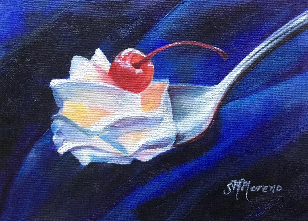 """A cherry on top"" original fine art by Susan McConnell Moreno"