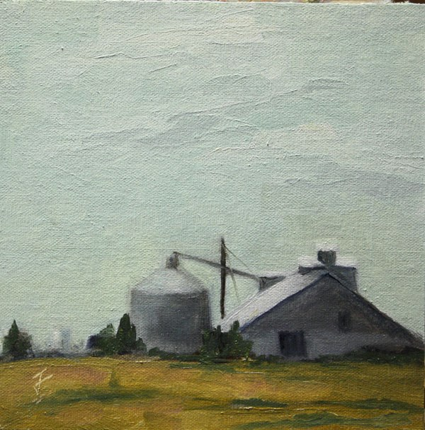 """West Texas Industrial"" original fine art by Jane Frederick"