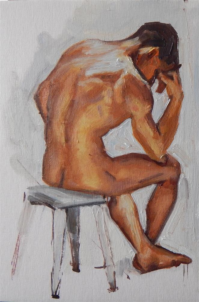 """Nude Sitting"" original fine art by Megan Schembre"