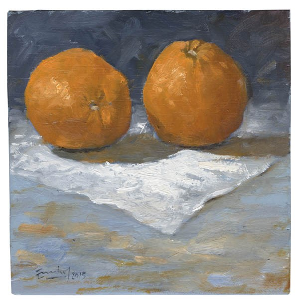 """""""Dos naranjas"""" original fine art by Emilio López"""