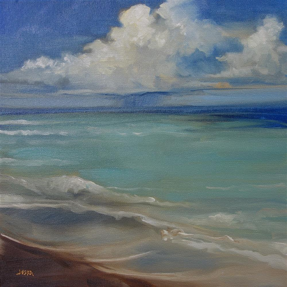 """Wave #2"" original fine art by Elaine Juska Joseph"