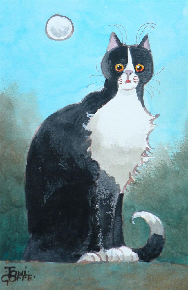 """Now what? I'll make a list"" original fine art by Toni Goffe"