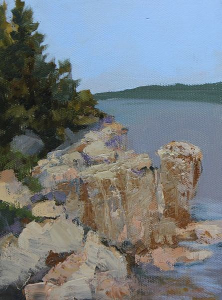 """Landscape, Seascape Oil Painting Maine-Study #3 by Colorado Landscape Artist Susan Fowler"" original fine art by Susan Fowler"