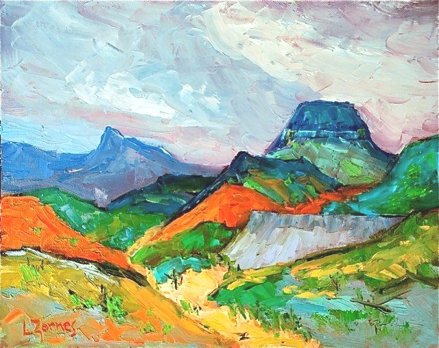 """Big Bend Arroyo"" original fine art by Liz Zornes"