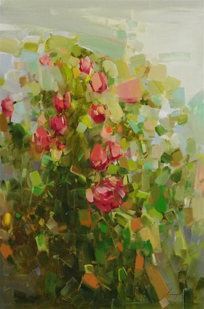 """Bouquet of Flowers, original oil painting, Contemporary art, One of a kind"" original fine art by V Y"