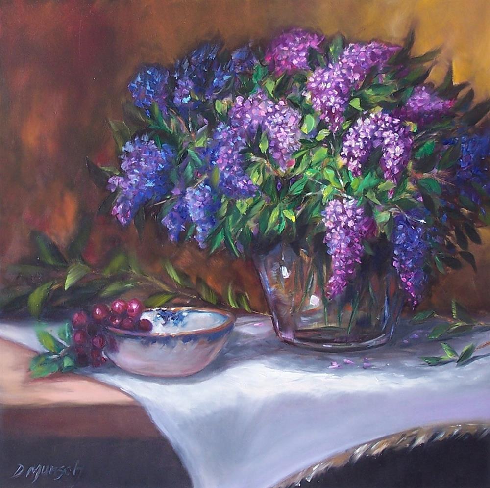 """""""Lilacs"""" original fine art by Donna Munsch"""