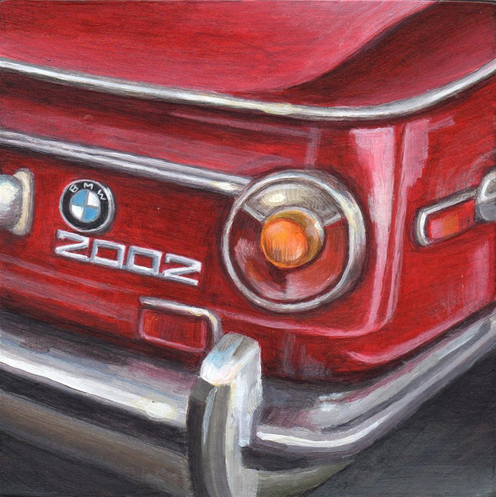 """1973 BMW 2002"" original fine art by Debbie Shirley"