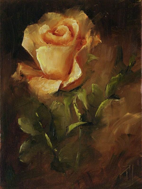"""Rose Study 1"" original fine art by Lori Twiggs"