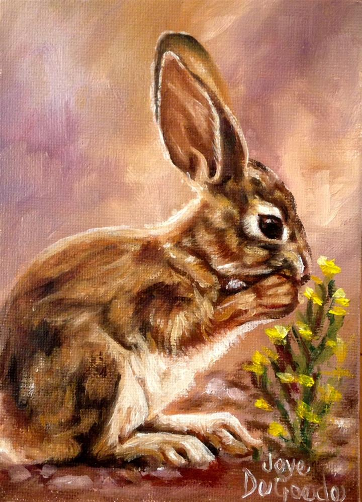 """Bunny Blessings (c) by Joye DeGoede"" original fine art by Joye DeGoede"