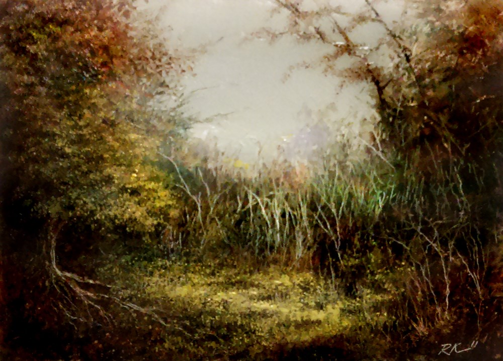 """""""A Secluded Spot"""" original fine art by Bob Kimball"""