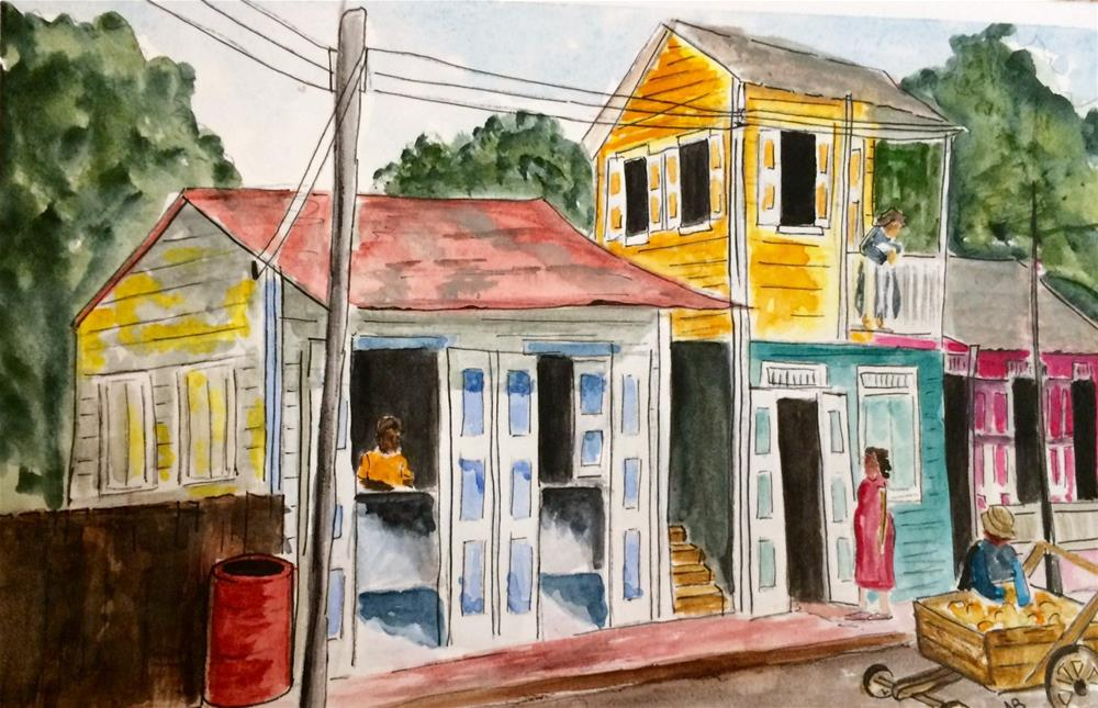 """Puerto Rico  7 X  11"" original fine art by Nancy Beard"
