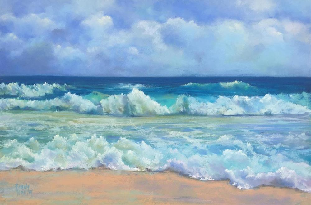 """Surf's Up"" original fine art by Pamela Hamilton"