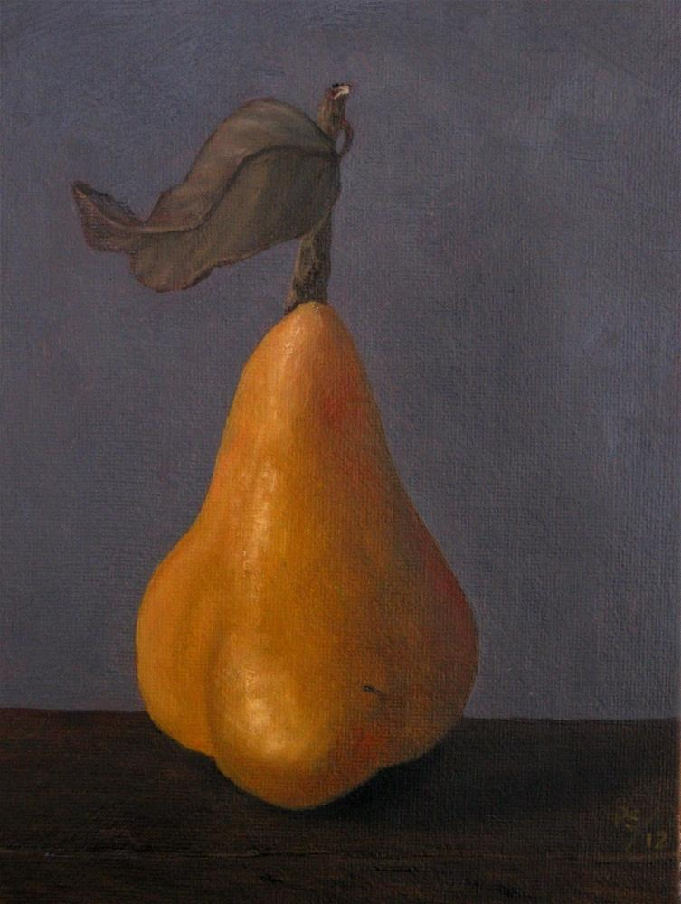 """Beurre bosc Pear III"" original fine art by Pera Schillings"