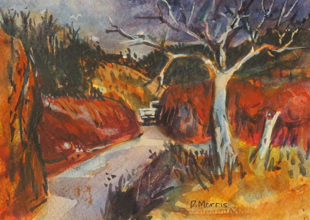 """Blue Tree 3"" original fine art by Dann Morris"