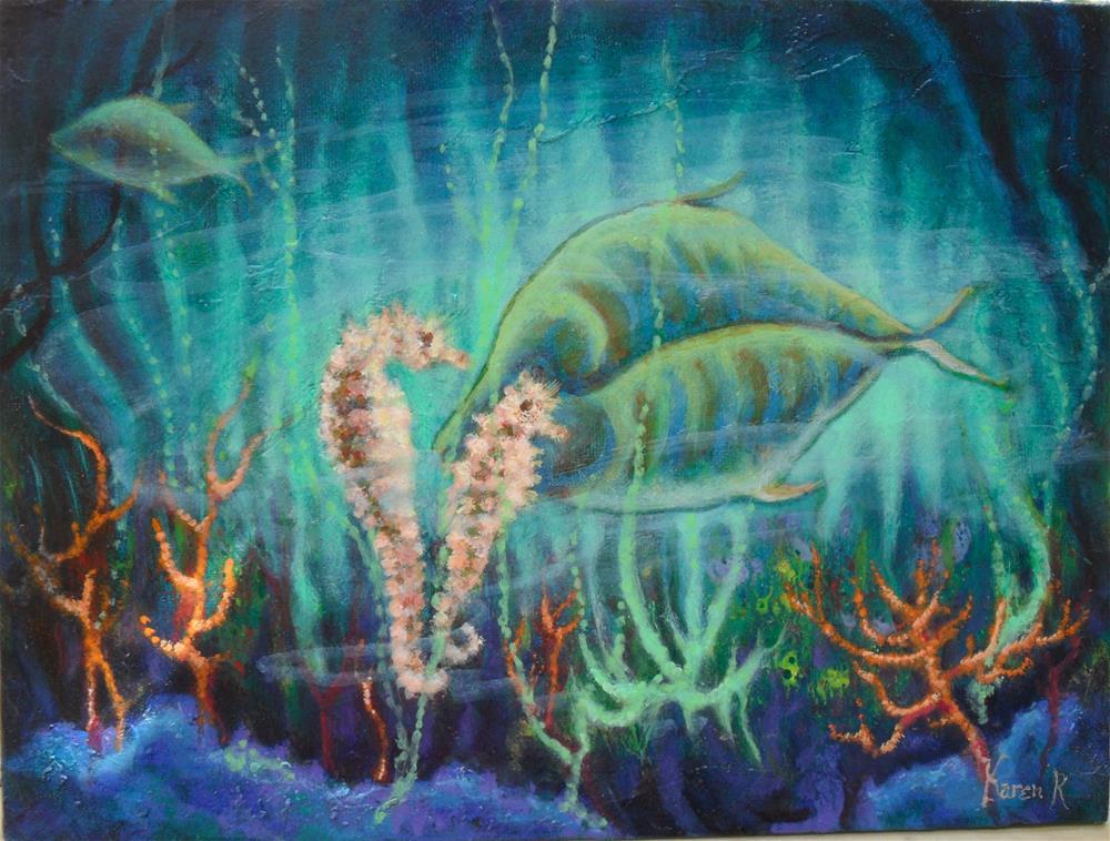"""""""Coral Dance"""" original fine art by Karen Roncari"""