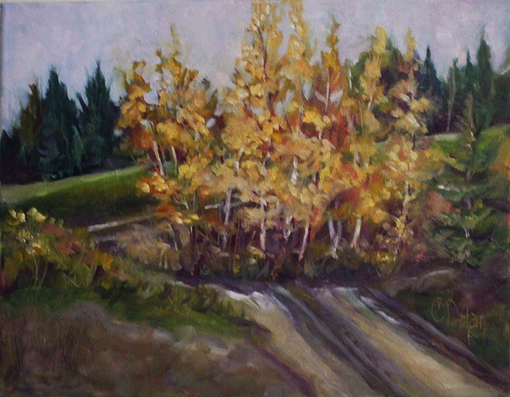 """The Lonely Road"" original fine art by Cheryl Williams Dolan"