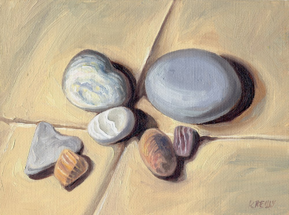 """Beach Rocks"" original fine art by Kath Reilly"