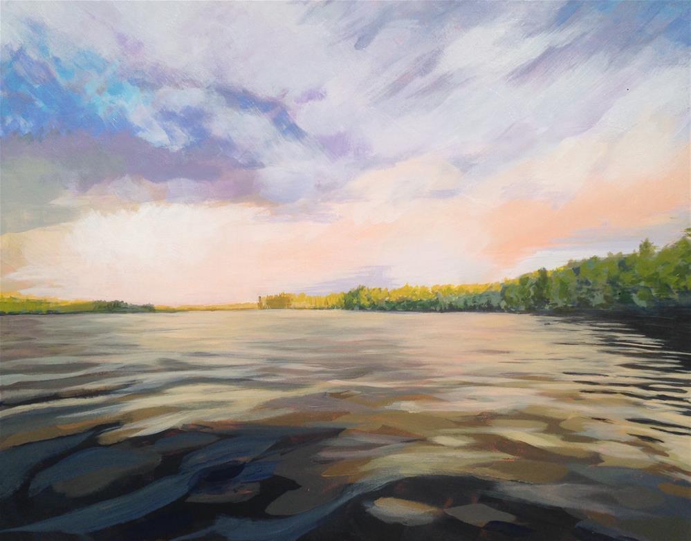 """""""Lake"""" original fine art by Jim Musil"""