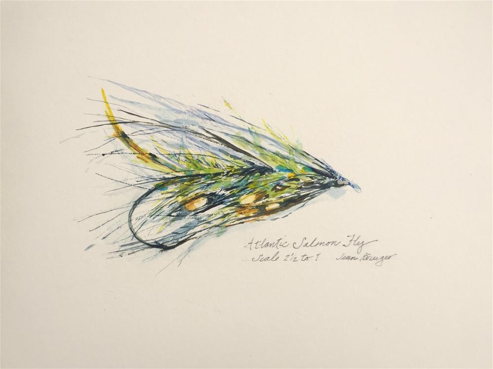 """Atlantic Salmon Fly"" original fine art by Jean Krueger"