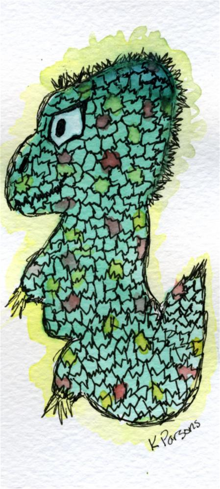 """Blobbosaur"" original fine art by Kali Parsons"