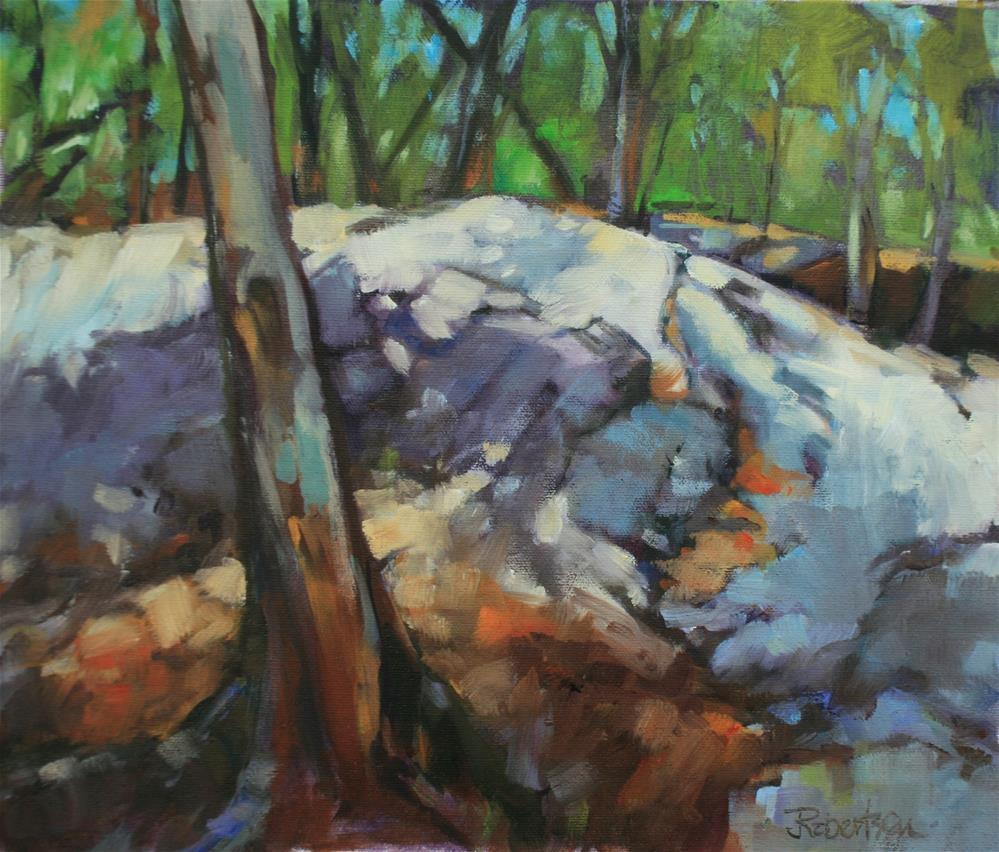"""Sunlight through the Pines"" original fine art by Jane Robertson"