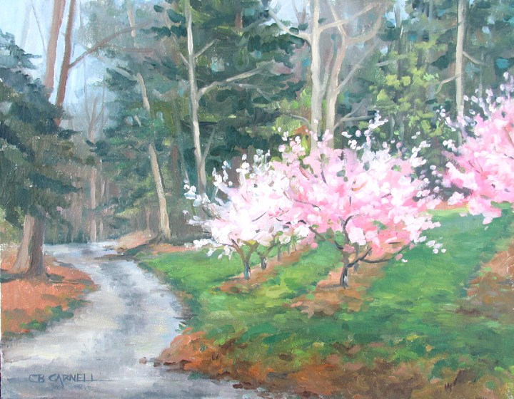 """""""AN EARLY SPRING Original Plein Air Painting by Claire Beadon Carnell"""" original fine art by Claire Beadon Carnell"""
