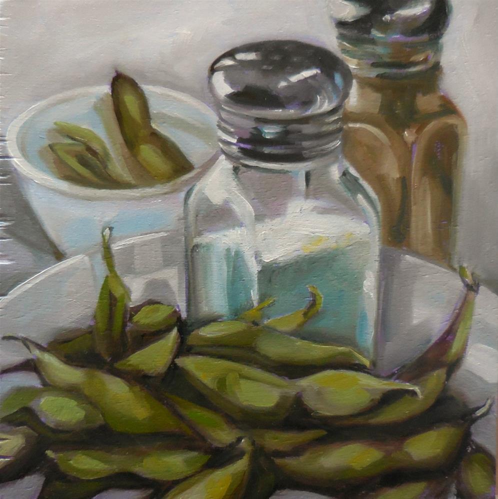 """""""Edamame"""" original fine art by Beth Moreau"""