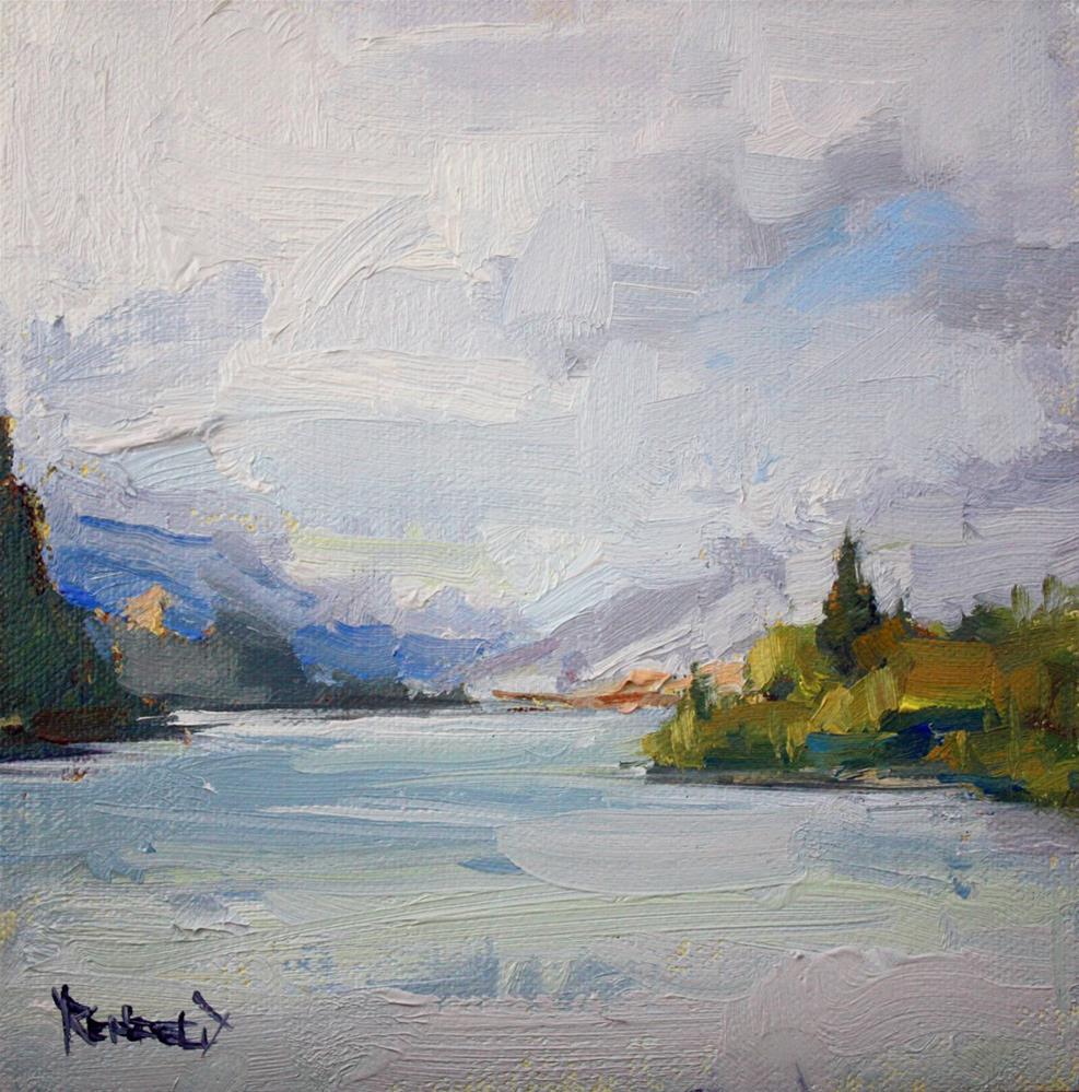"""The Rainy Gorge"" original fine art by Cathleen Rehfeld"