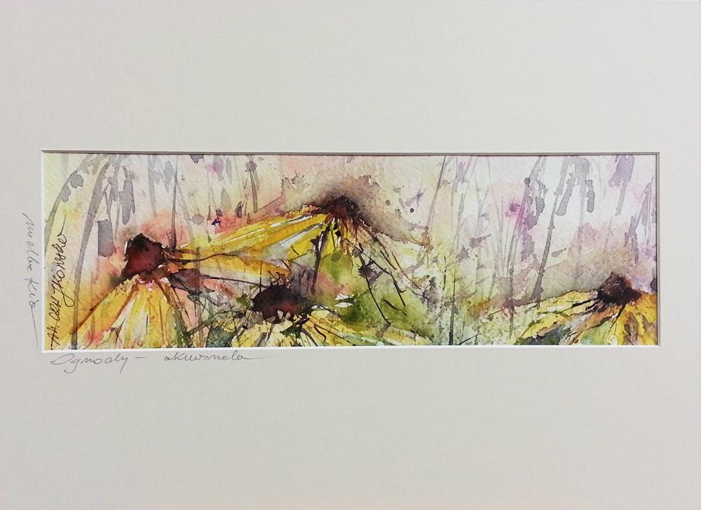 """Rudbeckia"" original fine art by Marlena Czajkowska"