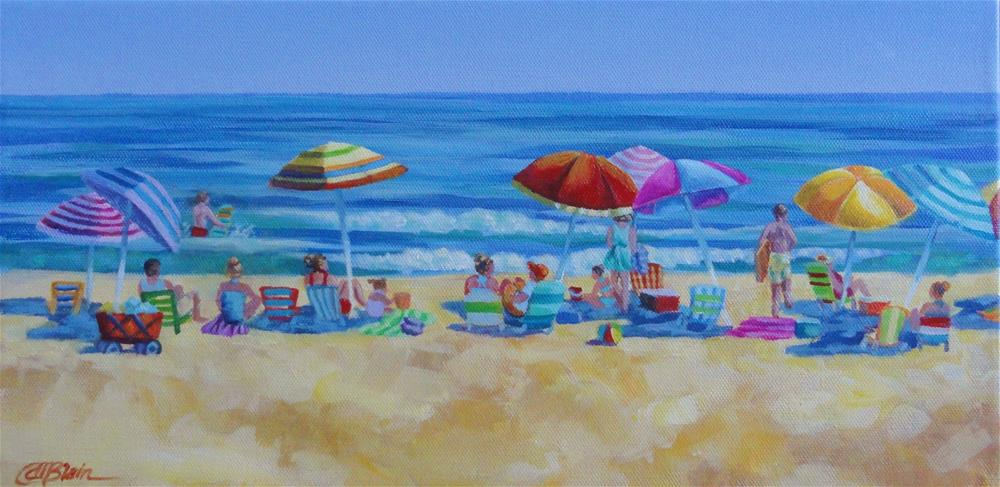 """Beach Colors"" original fine art by Christine Blain"