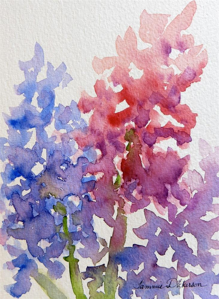 """Hyacinth in Pink and Blue"" original fine art by Tammie Dickerson"