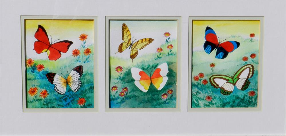 """Springtime Butterflies #1"" original fine art by Velma Davies"