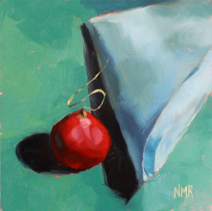 """Radish and Blue Napkin"" original fine art by Nealy May Riley"