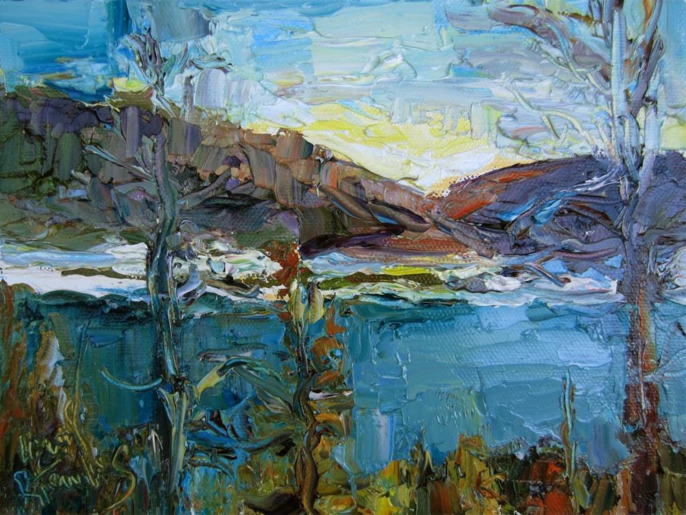"""Navajo Lake"" original fine art by Carol Steinberg"