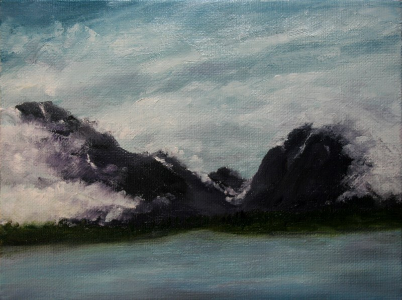 """Storm Clouds Over the Tetons"" original fine art by Jean Nelson"