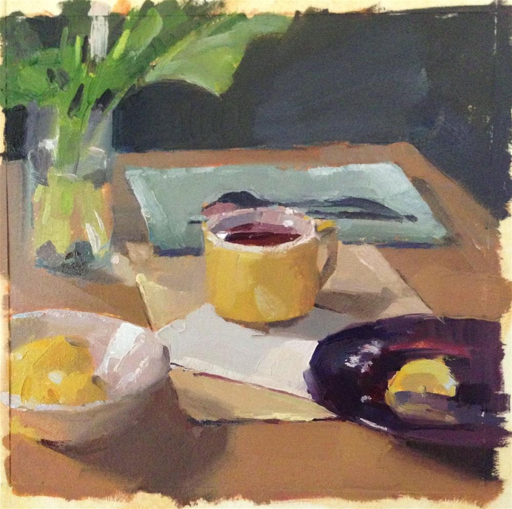 """Sketch for 'The Yellow Teacup'"" original fine art by Sarah Sedwick"