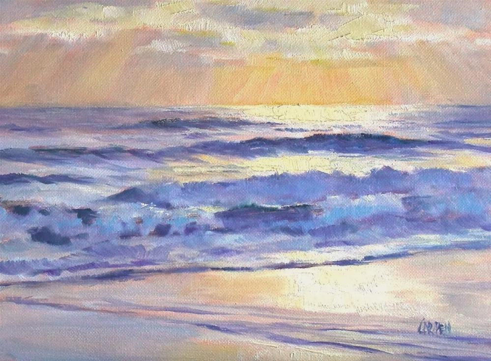 """Sunglow, 8x6 Oil on Canvas"" original fine art by Carmen Beecher"