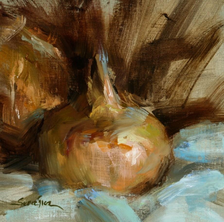 """Yellow Onions"" original fine art by Scott Serafica"