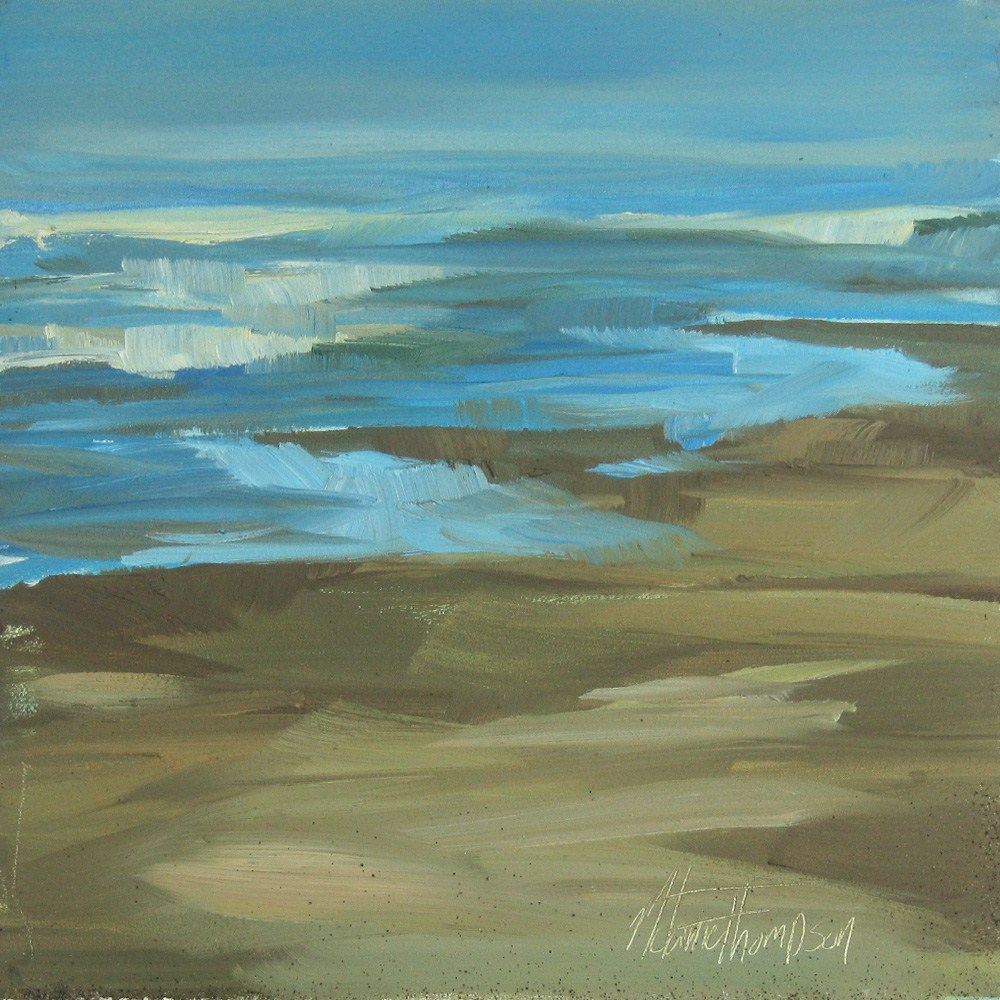 """Sandy Bottom"" original fine art by Melanie Thompson"