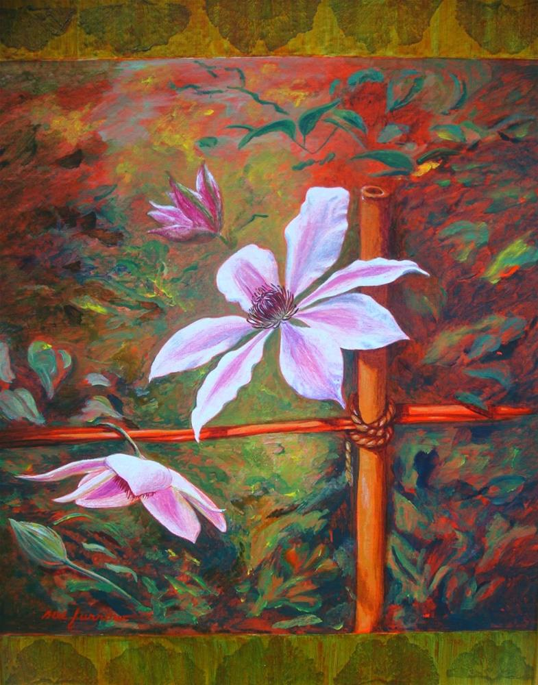 """Clematis and Columbine Original Paintings"" original fine art by Sue Furrow"