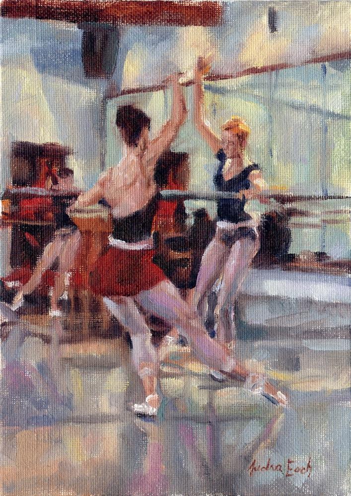 """Los Angeles Ballet: Exercises"" original fine art by Audra Esch"