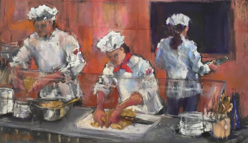 """Busy Kitchen"" original fine art by jeri greenberg"