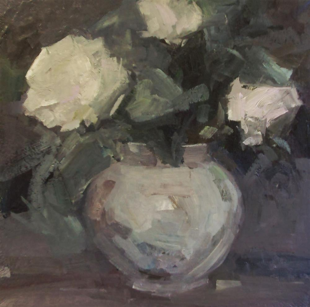 """Grey pot"" original fine art by Parastoo Ganjei"