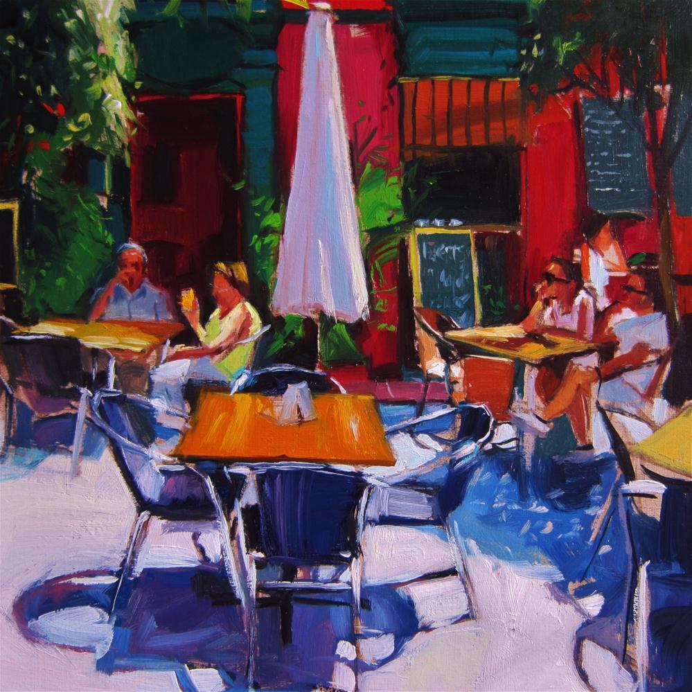 """Red bar"" original fine art by Víctor Tristante"