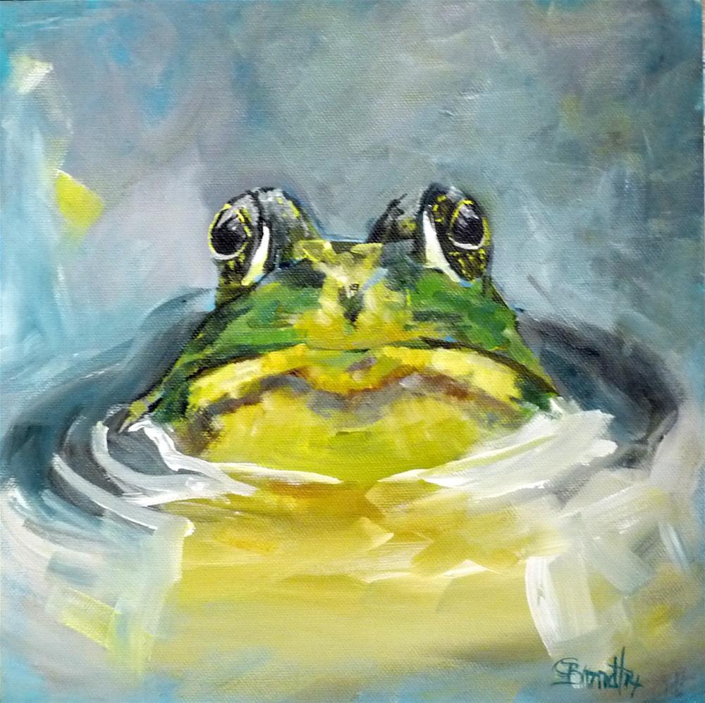 """frog"" original fine art by Claudia Brandt"