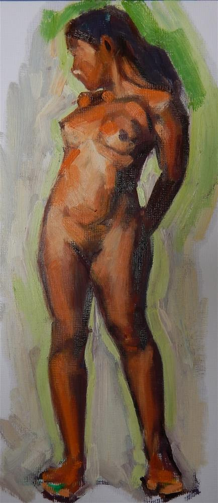 """Girl Standing"" original fine art by Megan Schembre"