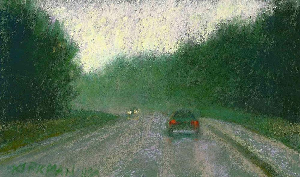 """Road Sketch 23"" original fine art by Rita Kirkman"